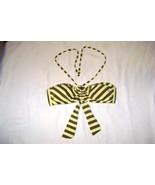 Ella Moss isla bikini top Yellow and Brown stripes Size Medium - $12.99
