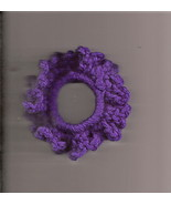Purple Crochet Ponytail Holder Handcrafted Stretch Elastic - $2.50