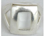 White cat eye  silver ring thumb155 crop