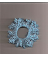 Turquise Blue Crochet Ponytail Holder Handcrafted Stretch  - $2.50