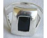 Black cat eye ring silver thumb155 crop