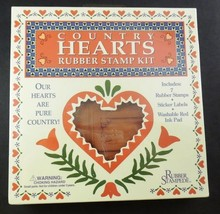 Rubber Stampede COUNTRY HEARTS Rubber Stamp Kit NIP #951 7 Stamps Ink Pa... - $9.89