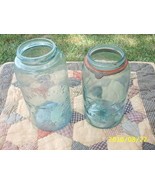 Vintage BLUE BALL MASON CANNING QT JAR~SLOPED SHOULDER 1858 - $20.89