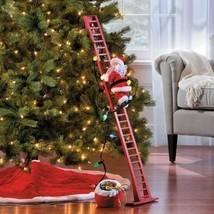 Mr Christmas ANIMATED SUPER CLIMBING SANTA Holiday Decor MUSICAL STEPPING - $99.99