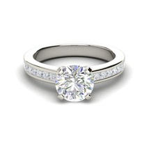 1.22Ct Round Cut Gourges Diamond Solitaire Engagement Ring 14K White Gol... - $87.28
