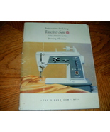 Instruction Manual for Using Touch & Sew Deluxe Zig Zag Sew - $12.50