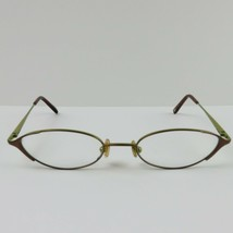 Nine West Kids Adult Eyeglasses Frames Green Brown oval 322 OW42 48-18 5-4 135 - $43.00