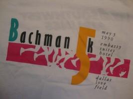 Vintage Bachman 5K Run Dallas 1990 Souvenir White T Shirt Size XL - $15.83