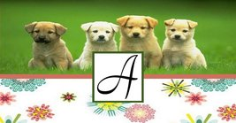 Monogram Puppies Checkbook Holder - $6.50