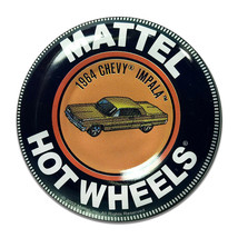 Mattel Hot Wheels 1964 Chevy Impala Collector Badge Round MDF Wood Sign - $29.65