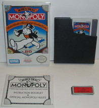 MONOPOLY CiB VIDEO GAME -  WORKS! NES Cartridge Original Nintendo Comple... - $17.34