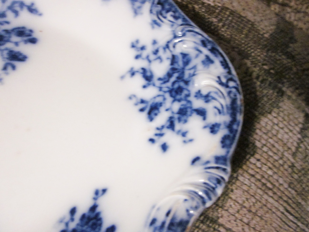 Grindley Flow Blue China Platter England - 8.5 x 12.5 inches (Janette ?)