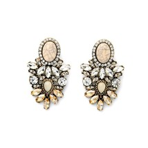 The Cats Pajama Bella Blush Crystal Statement Earrings - $50.00