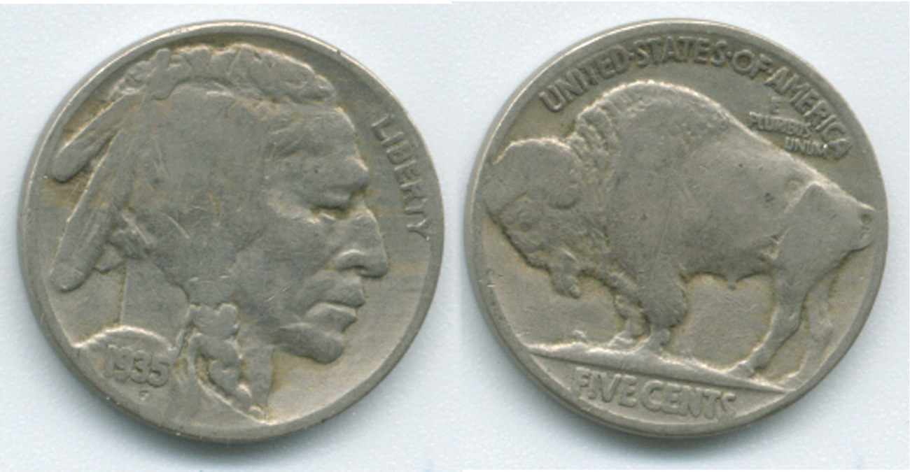 B39 - 1935 American Buffalo Nickel