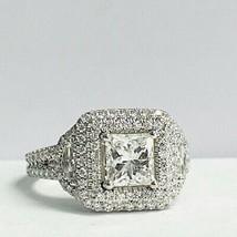 1.85 Ct Princess Cut Diamond Engagement Ring 14k White Gold - £3,236.70 GBP
