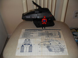 Vintage 1983 GI Joe Cobra HISS Tank With Driver And Instructions - $34.99