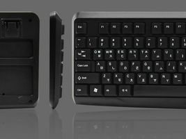 QSENN GP-K2500 USB Wired Korean English Keyboard with Cover Skin Protector image 5