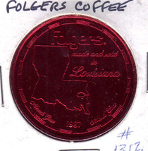 FOLGERS Mountian Grown COFFEE Mardi Gras 1987 Token - $2.95