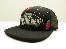 "VANS ""Off The Wall"" Beach Girl Strawberry Mesh Snap Back Trucker Hat New w/ Tags - $23.72"