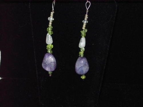 Moon Goddess Earrings - Flourite