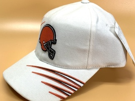 Cleveland Browns Vintage NFL White 20% Wool Logo Stripe Cap (New) By Annco - $23.99