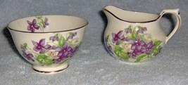 Devon violets sutherland english bone china sugar and creamer thumb200