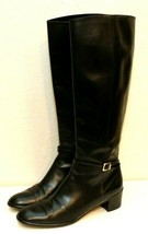 Salvatore Ferragamo Black Leather Women Boots Size 8.5 Made in Italy - $102.48
