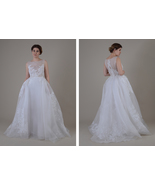 Hand painted wedding dress ; Bridal ; Unique gown - $1,700.00