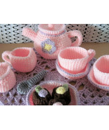 Pink & Purple Flower Tea Set - $30.00