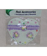 Childs Purple Headband Ponytail Elastics New in... - $1.99