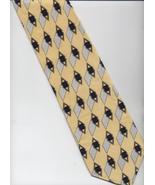 Brandini Le Collezioni Tie - Yellow, White, Bla... - $19.00