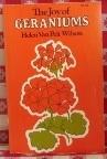 The Joy of Geraniums by Helen Van Pelt Wilson 1980