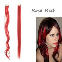 Long Natural Hair Clip In Rainbow Hair Extensions image 10