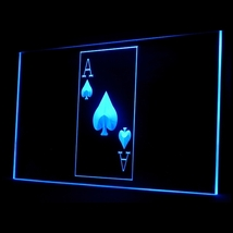 130030B Ace Spade Poker Casino King Lucky Display Accessible LED Light Sign - $18.00