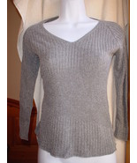 Banana Republic Cotton/Rayon Long Sleeve Sweater Medium Grey NWOT - $25.99