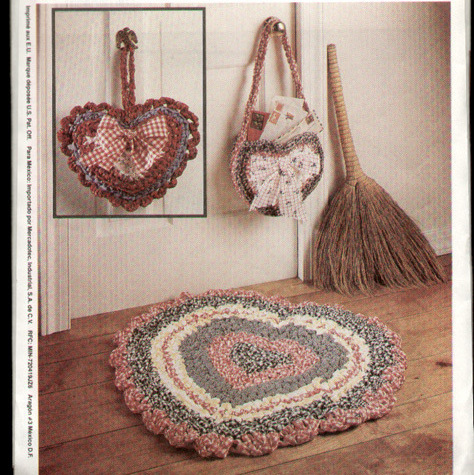 McCall's 6610 Ragtime Crochet Rug Baskets Chicken Pattern