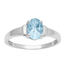 Women Collection Blue Topaz Solid Gemstone 925 Sterling Silver Ring Sz9 ... - €14,78 EUR