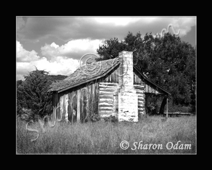 Rustic Old Log Cabin ~BH0021BW ~ Fine Art Photography