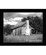 Rustic Old Log Cabin ~BH0021BW ~ Fine Art Photography - $17.50