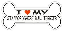 Love My Staffordshire Bull Terrier Bumper Sticker or Helmet Sticker D2557 Decal - $1.39+