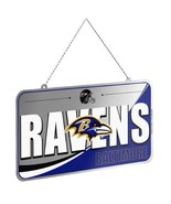 NFL RAVENS Team Logo License Plate Holiday Christmas Tree Ornament - $3.75