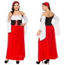 Women's Oktoberfest Costume Halloween German Beer Maid Cosplay Costume - $26.91