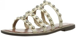 Sam Edelman Glenn Ivory Leather Sandals Size 8.5 M - $98.99