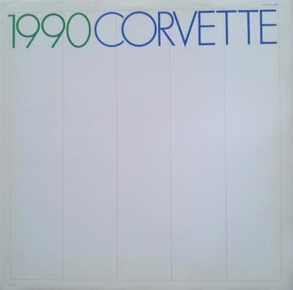 1990 Chevrolet CORVETTE sales brochure catalog 90 Chevy