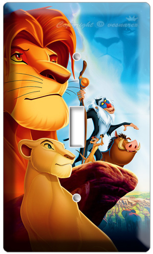 NEW LION KING SIMBA FROM DISNEY'S 3D MOVIE SINGLE LIGHT SWIT