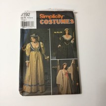 Simplicity 8192 Size 10 12 14 Misses' Medieval Dress Costume - $11.64