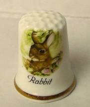 English Bone China Rabbit Thimble 1979 Fenton China Company Vintage - $8.42