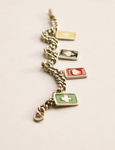 Vintage 1970's Playing Cards Charm Bracelet - $10.00