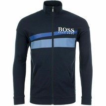 Hugo Boss Men's Cotton Sweater Zip Up Sweatshirt Track Jacket w/ Defect - L