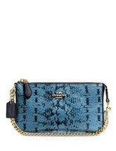 Coach Nolita Wristelet 19 In Colorblock Exotic Embossed Leather NWT - $119.00
